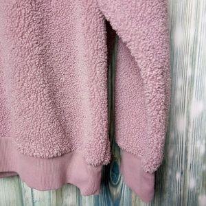 Universal Thread Sweaters - Mauve Teddy Crewneck Sweater